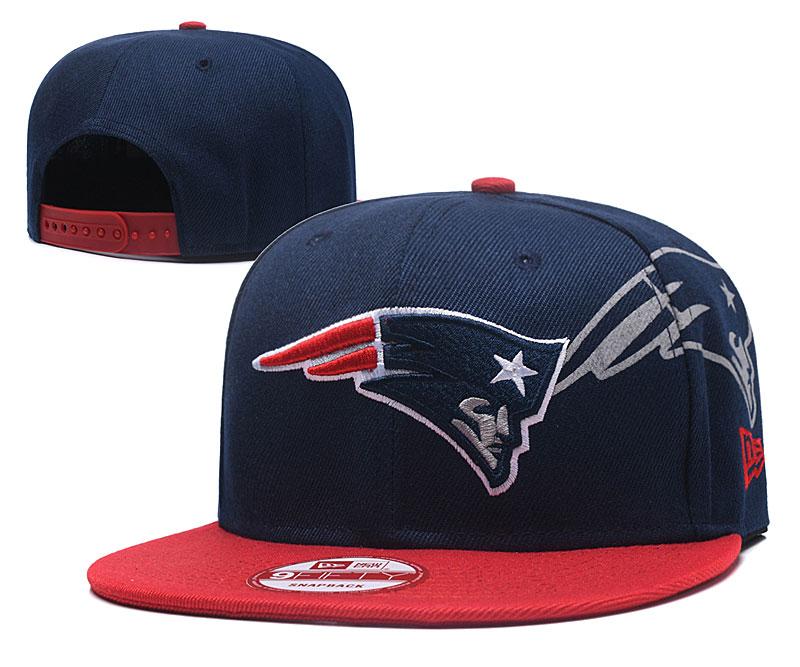 Patriots Team Logo Navy Red Adjustable Hat GS