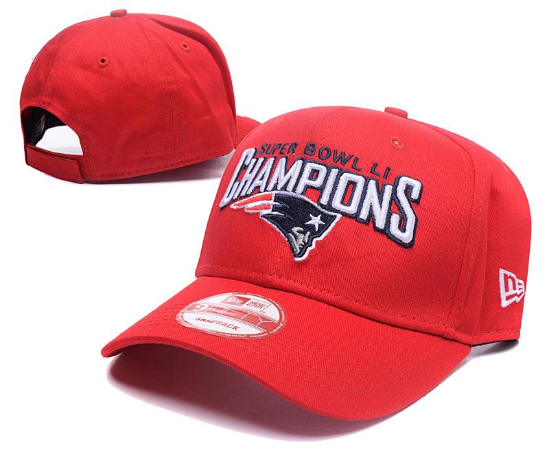 Patriots Team Logo Red Peaked Adjustable Hat GS