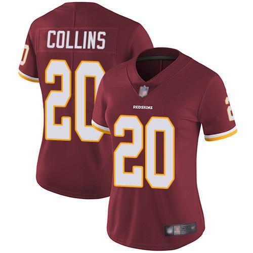 Nike Redskins 20 Landon Collins Burgundy Women Vapor Untouchable Limited Jersey
