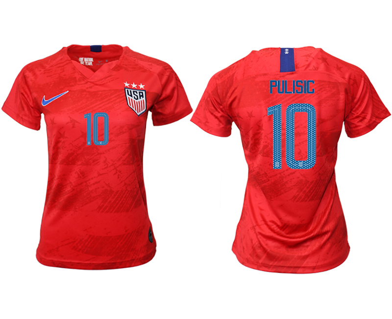 2019-20 America 10 PULISIC Away Women Soccer Jersey
