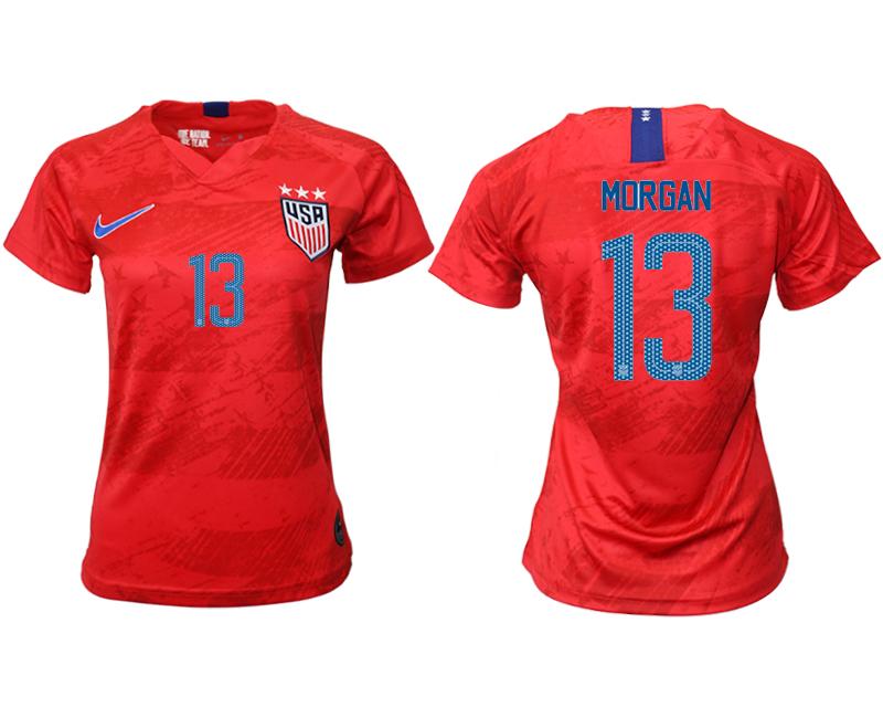 2019-20 America 13 MORGAN Away Women Soccer Jersey