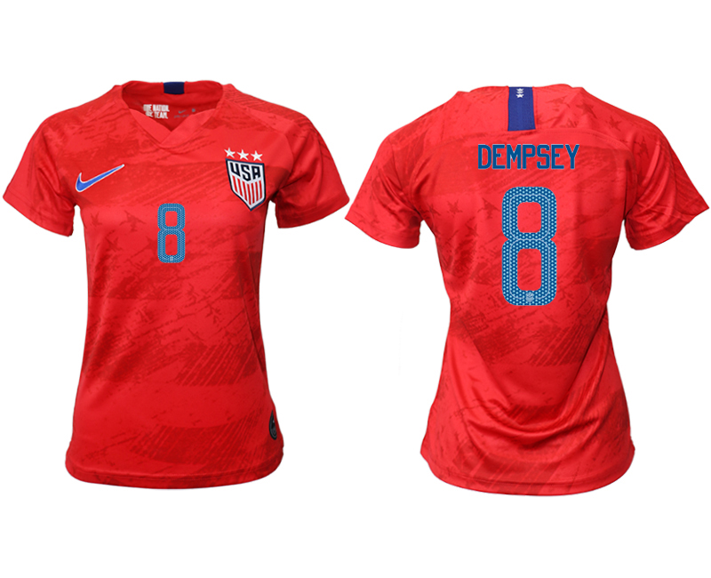 2019-20 America 8 DEMPSEY Away Women Soccer Jersey