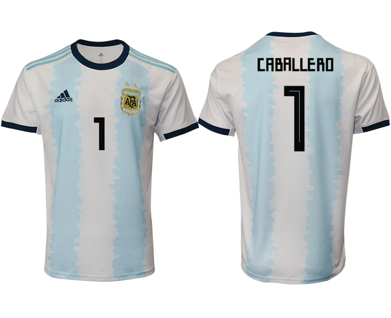 2019-20 Argentina 1 CABALLERO Home Thailand Soccer Jersey
