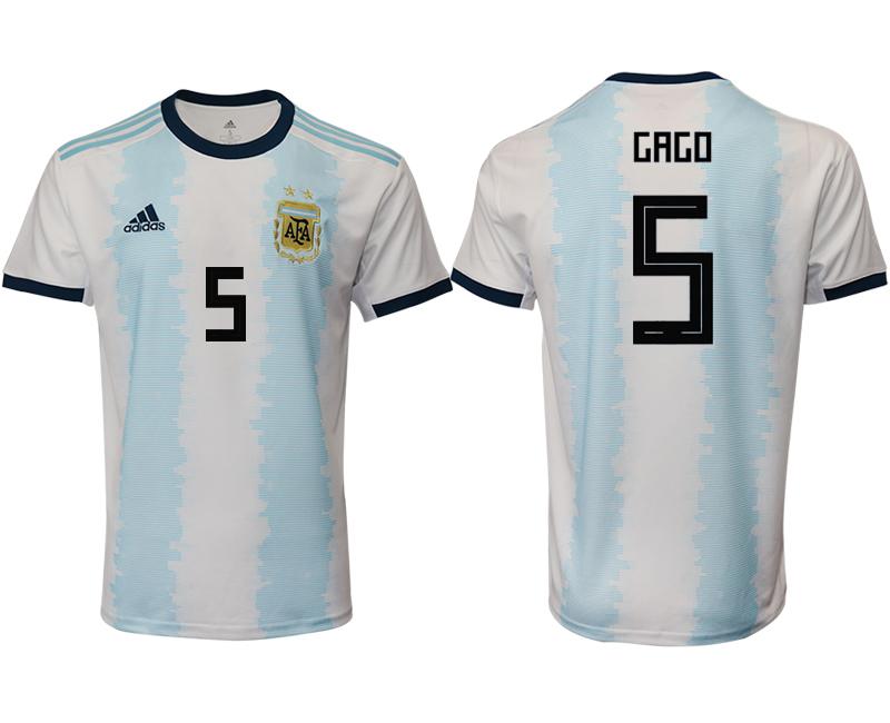 2019-20 Argentina 5 GAGO Home Thailand Soccer Jersey