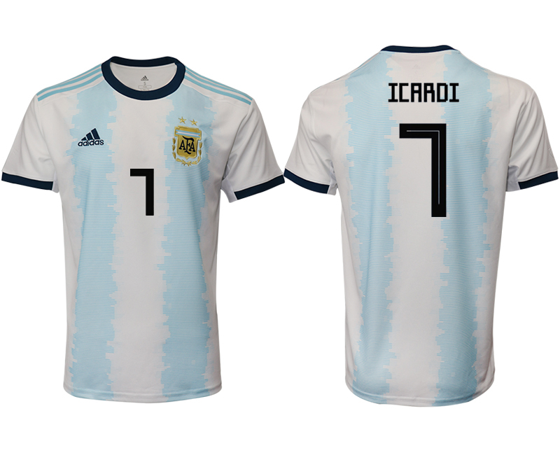 2019-20 Argentina 7 ICARDI Home Thailand Soccer Jersey