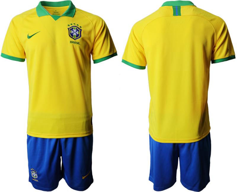 2019-20 Brazil Home Soccer Jersey