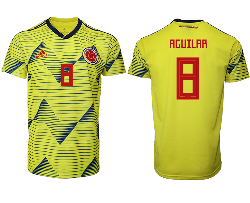 2019-20 Colombia 8 AGUILAR Home Thailand Soccer Jersey