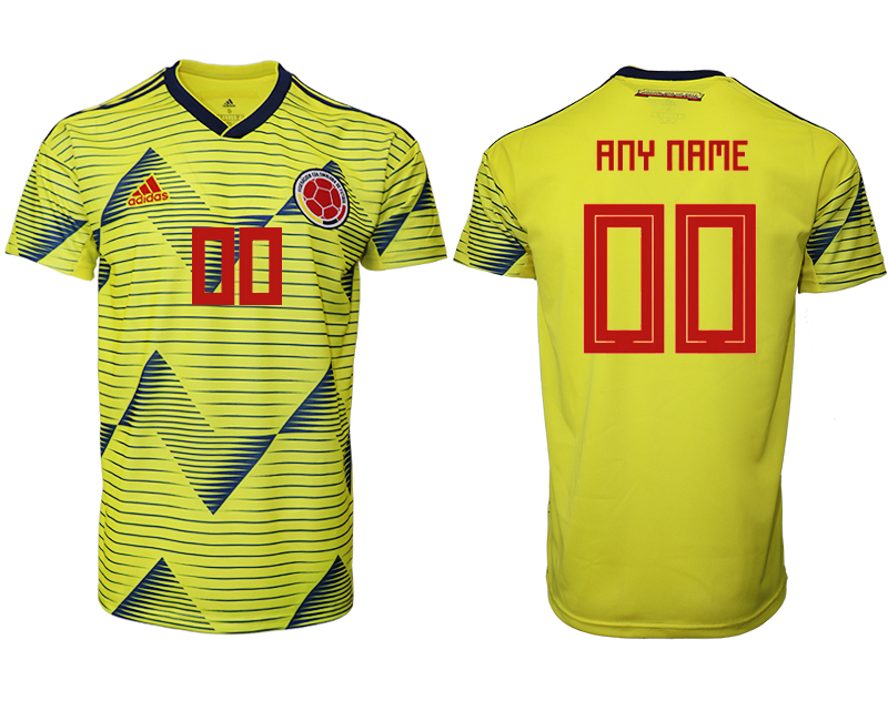 2019-20 Colombia Customized Home Thailand Soccer Jersey