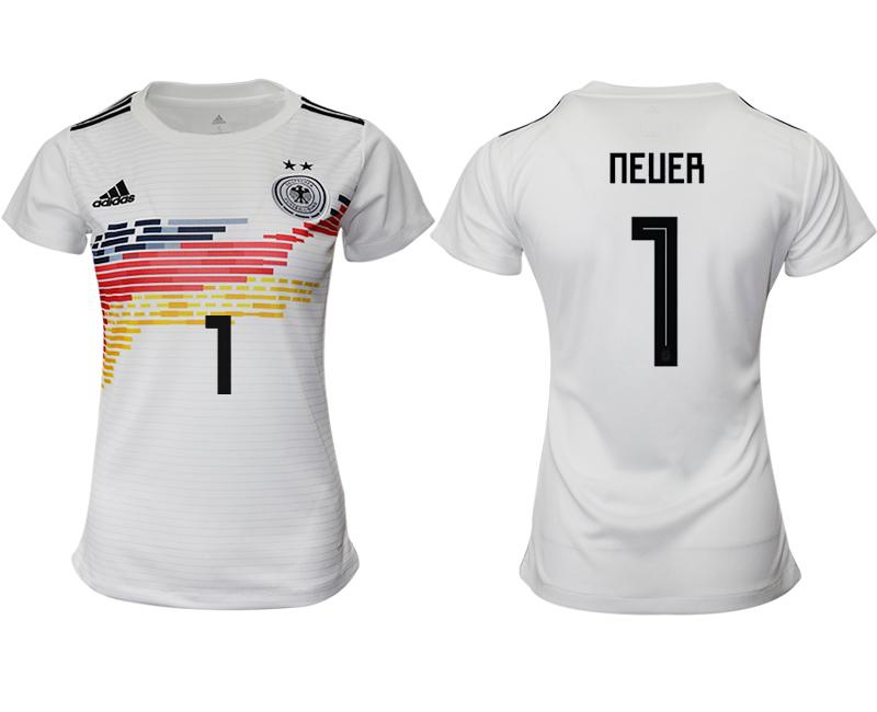 2019-20 Germany 1 NEUER Home Women Soccer Jersey