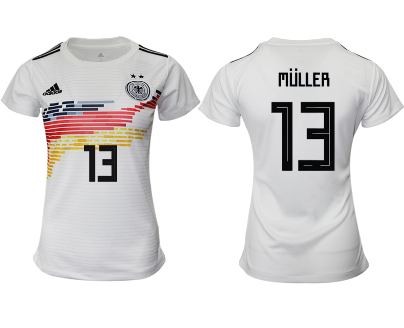 2019-20 Germany 13 MULLER Home Women Soccer Jersey