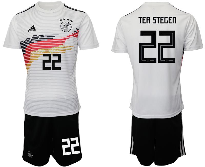 2019-20 Germany 22 TER STEGEN Home Soccer Jersey