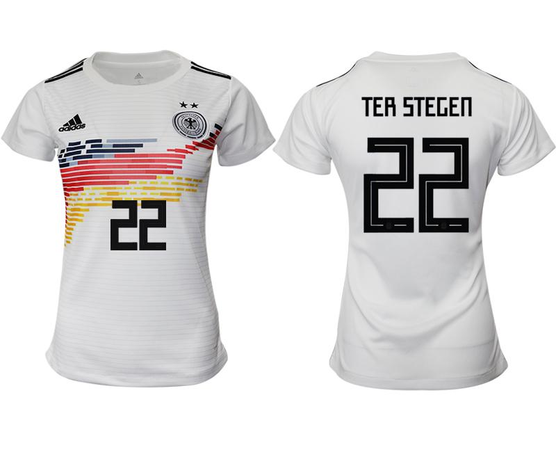 2019-20 Germany 22 TER STEGEN Home Women Soccer Jersey