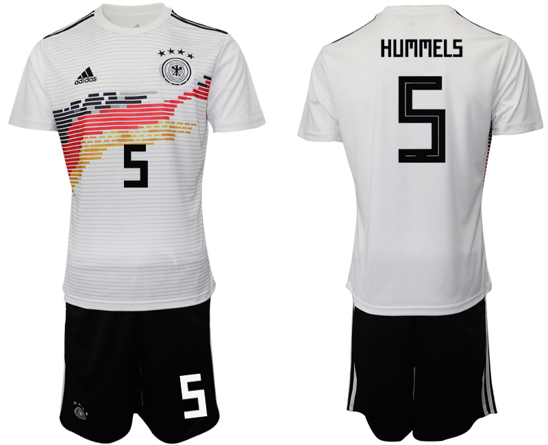 2019-20 Germany 5 HUMMELS Home Soccer Jersey
