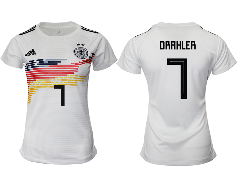 2019-20 Germany 7 DRAHLER Home Women Soccer Jersey