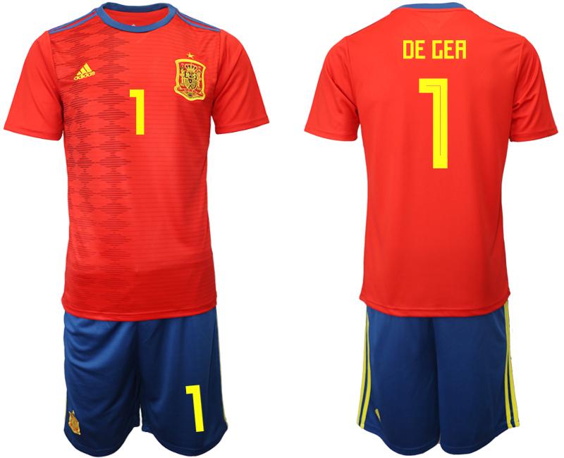 2019-20 Spain 1 DE GEA Home Soccer Jersey