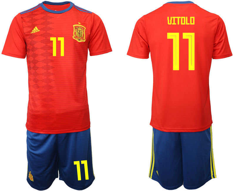 2019-20 Spain 11 UITOLO Home Soccer Jersey