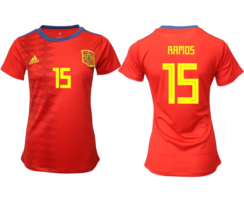 2019-20 Spain 15 RAMOS Home Women Soccer Jersey
