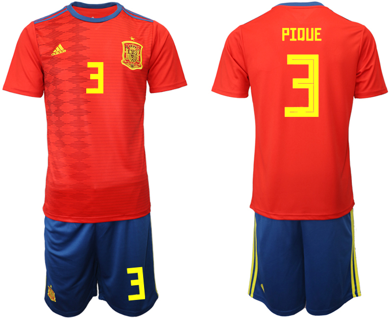 2019-20 Spain 3 PIDUE Home Soccer Jersey