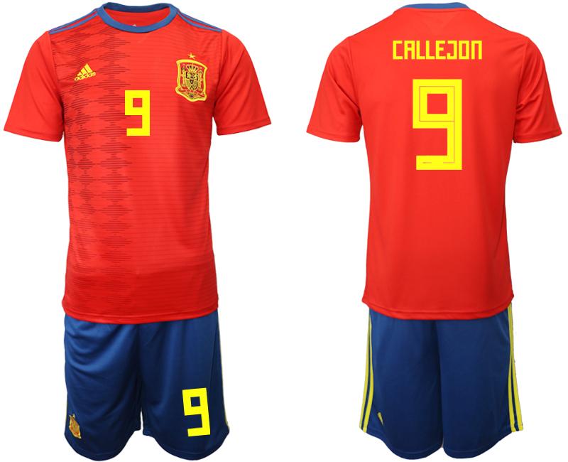 2019-20 Spain 9 CALLEGON Home Soccer Jersey
