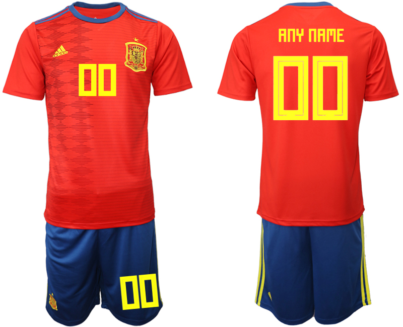 2019-20 Spain Customized Home Soccer Jersey