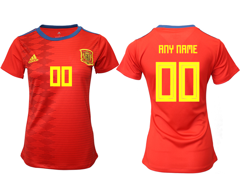 2019-20 Spain Customized Home Women Soccer Jersey