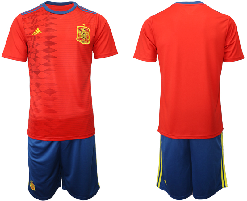 2019-20 Spain Home Soccer Jersey
