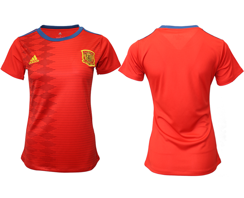 2019-20 Spain Home Women Soccer Jersey
