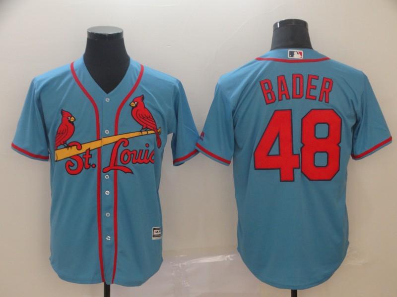 Cardinals 48 Harrison Bader Light Blue Cool Base Jersey