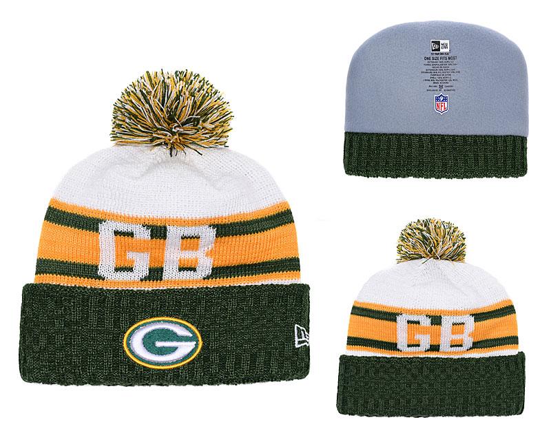Packers Fresh Logo Green Retro Cuffed Pom Knit Hat YD
