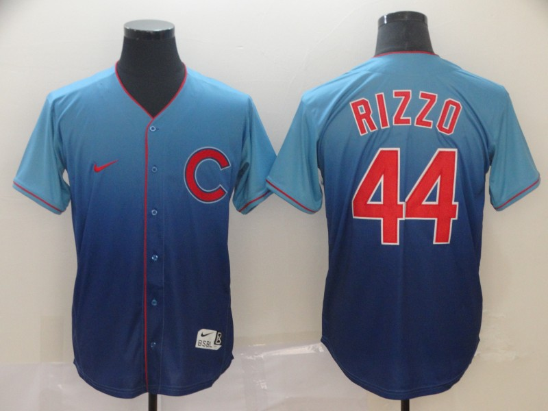 Cubs 44 Anthony Rizzo Blue Drift Fashion Jersey