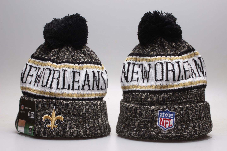 Saints Black Sideline Cold Weather Knit Hat YP
