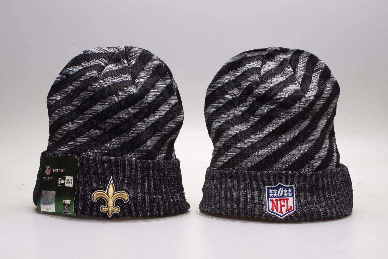 Saints Fresh Logo Stripe Cuffed Knit Hat YP