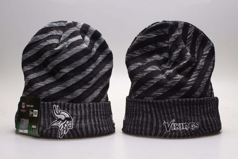 Vikings Team Logo Stripe Cuffed Knit Hat YP