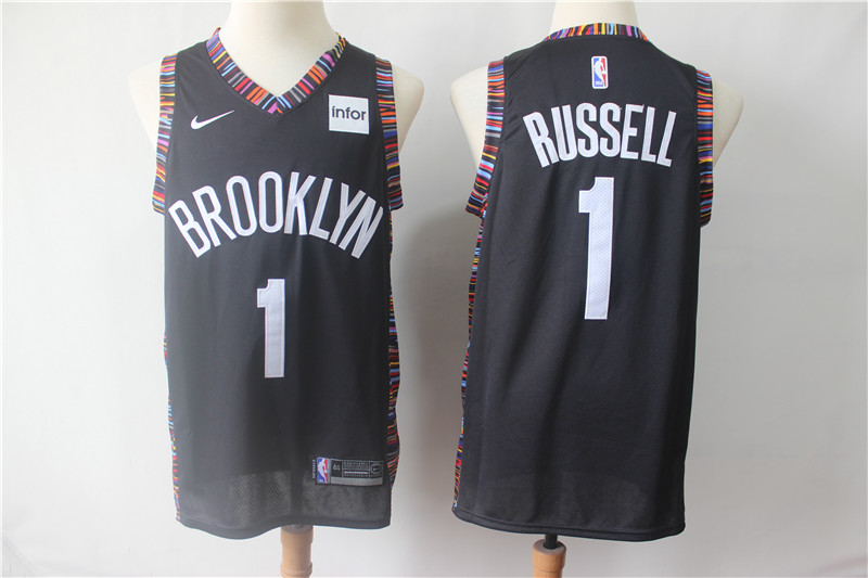 Nets 1 D'Angelo Russell Black City Edition Nike Swingman Jersey