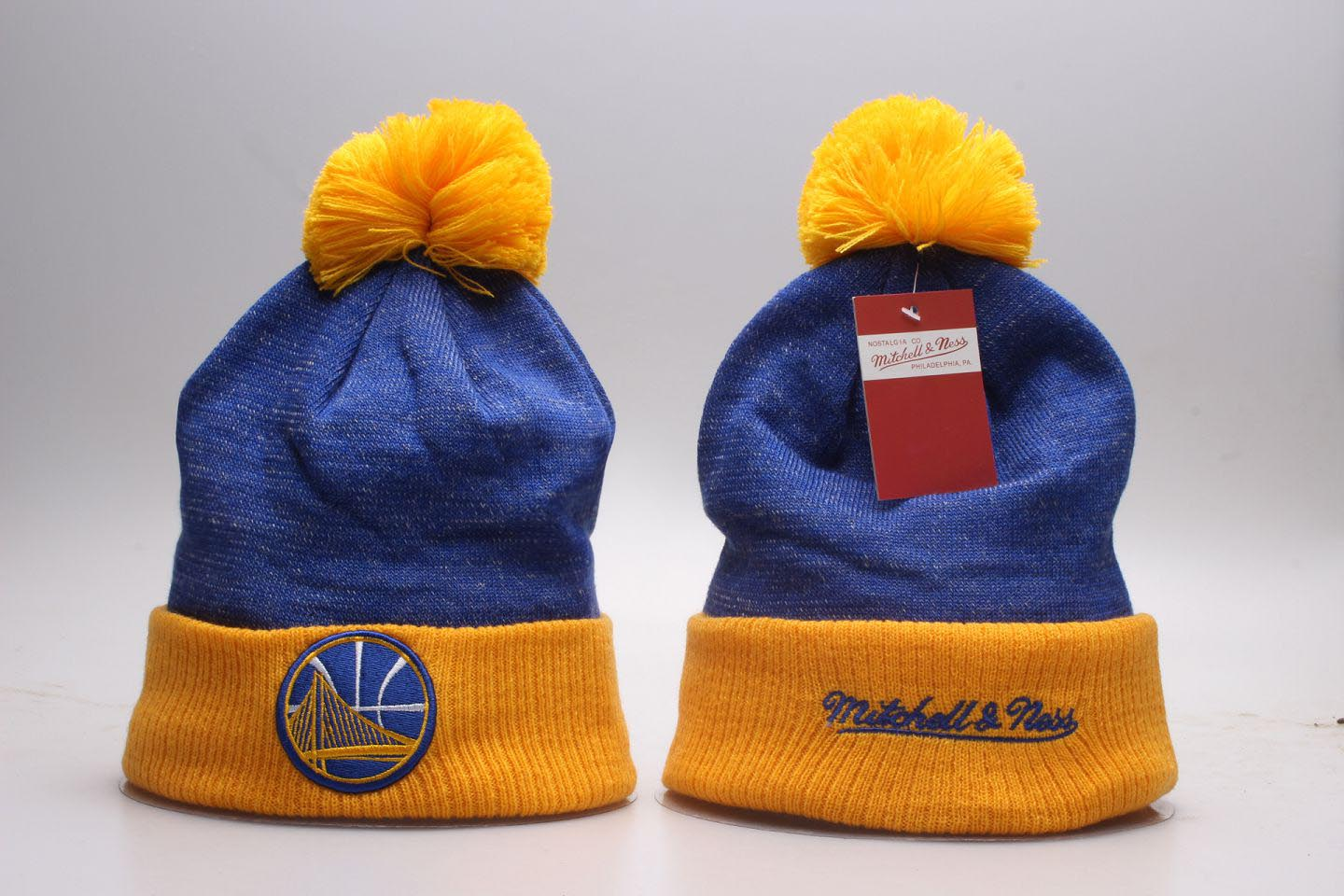 Warriors Fresh Logo Mitchell & Ness Knit Hat YP