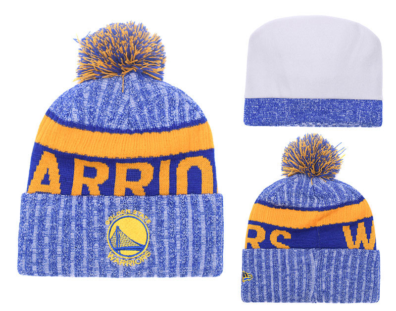 Warriors Fresh Logo Royal Knit Hat YD