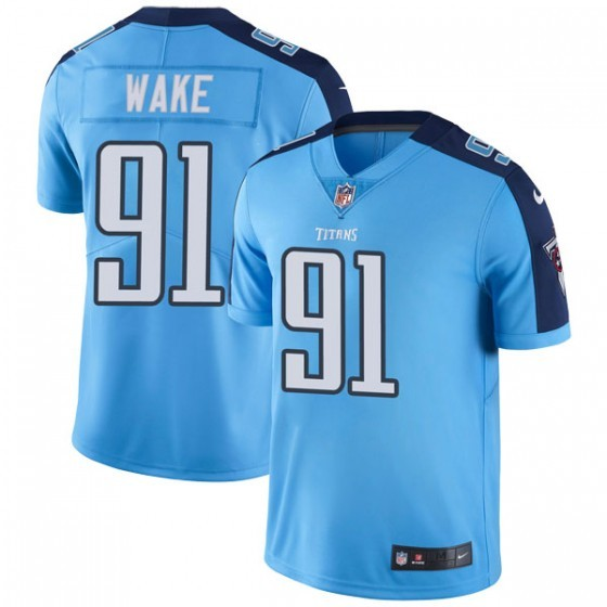 Nike Titans 91 Cameron Wake Light Blue Vapor Untouchable Limited Jersey