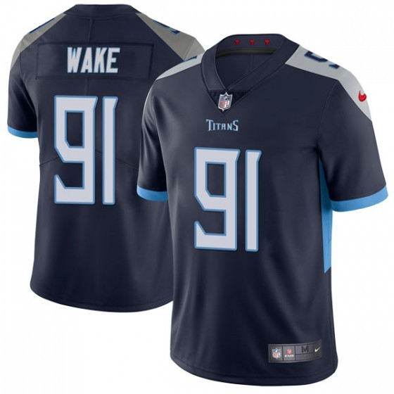 Nike Titans 91 Cameron Wake Navy Vapor Untouchable Limited Jersey