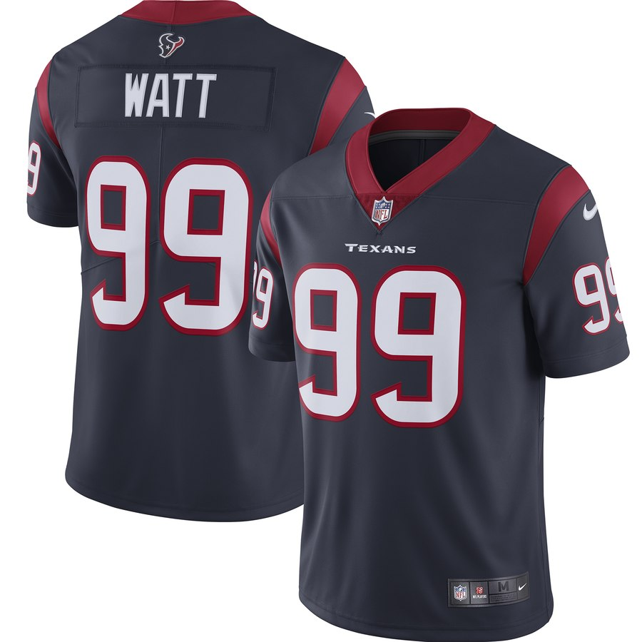 Nike Texans 99 J.J. Watt Navy Youth New 2019 Vapor Untouchable Limited Jersey