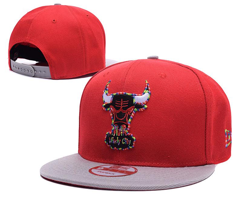 Bulls Team Logo Red Adjustable Hat TX