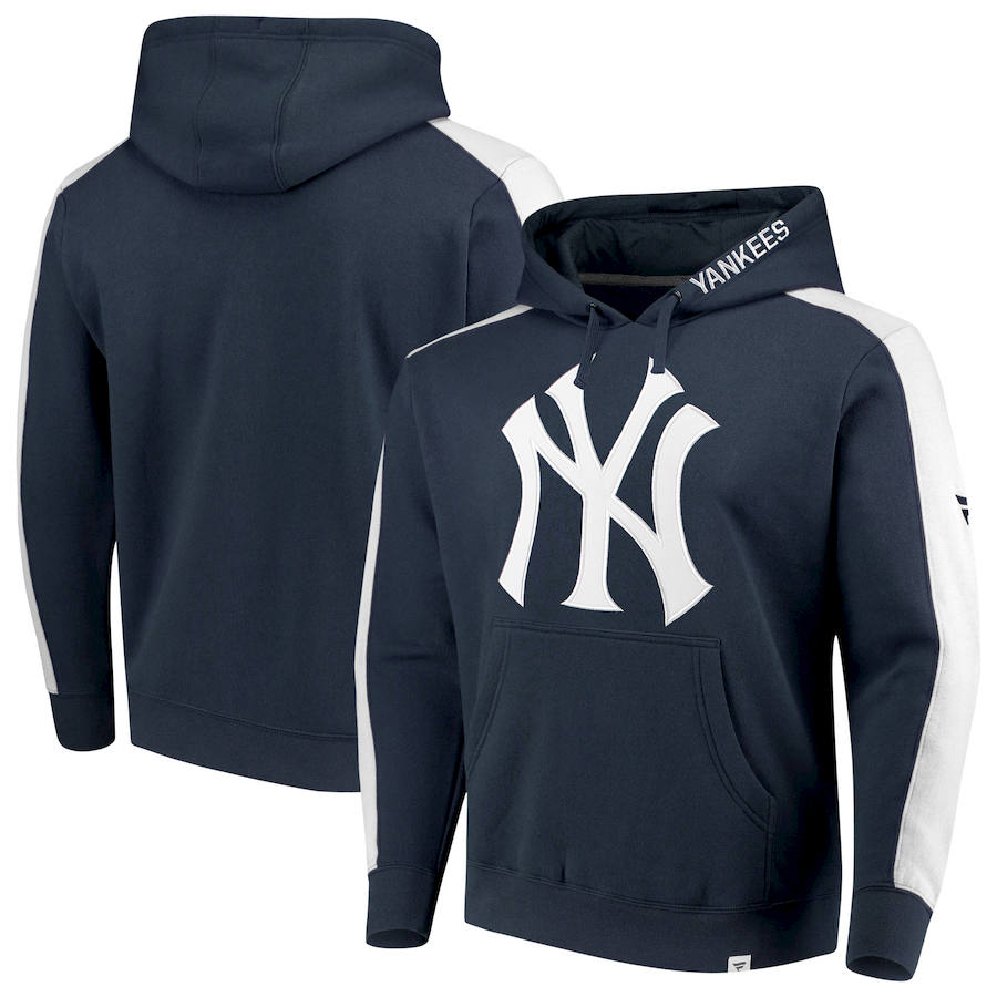 New York Yankees Fanatics Branded Iconic Fleece Pullover Hoodie Navy & White