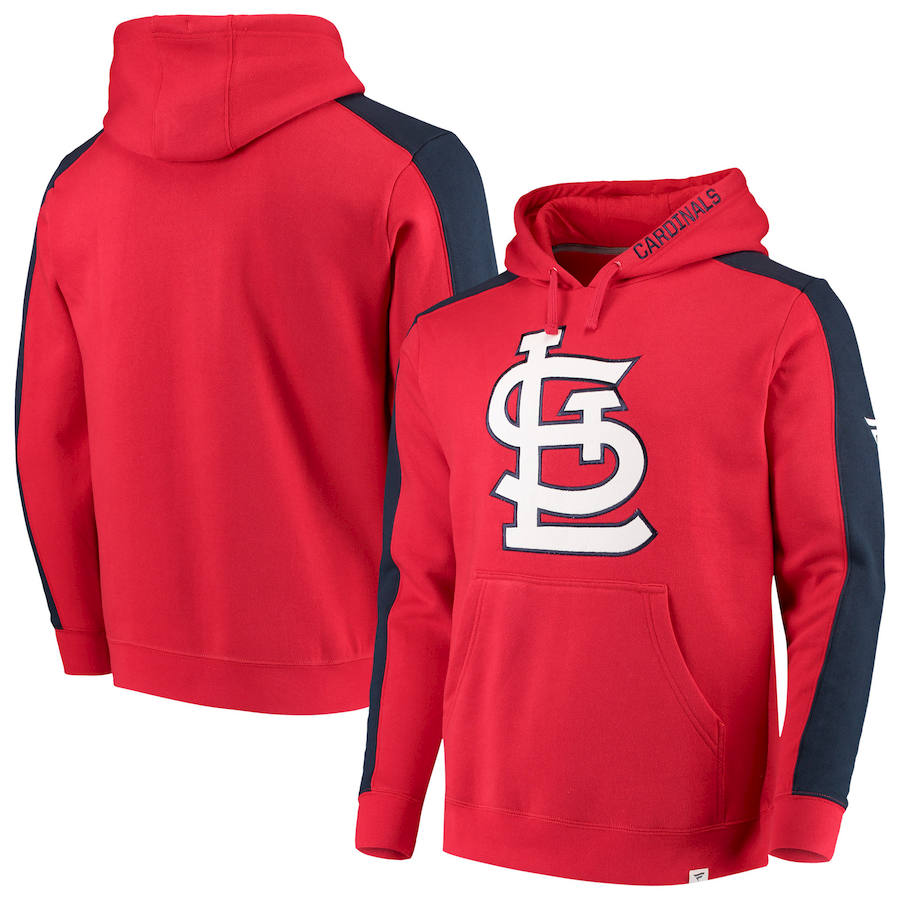 St. Louis Cardinals Fanatics Branded Iconic Fleece Pullover Hoodie Red