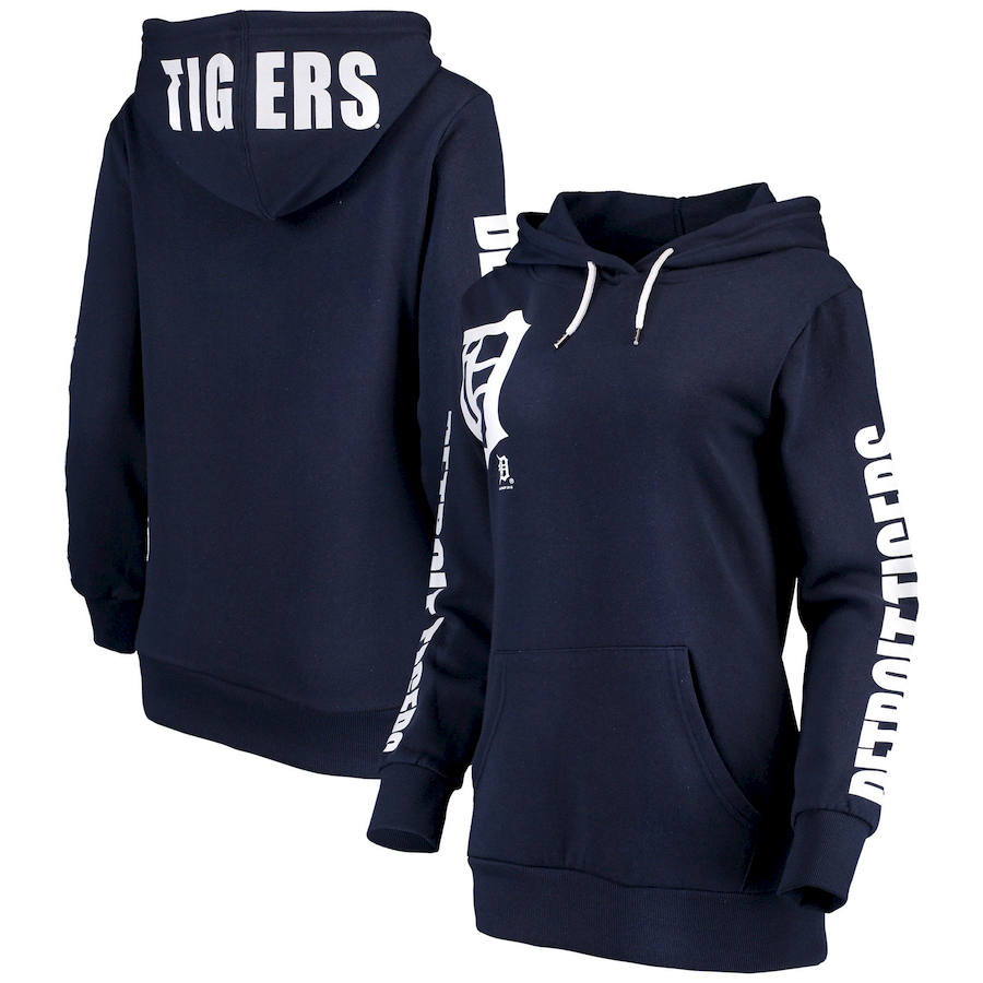 Detroit Tigers G III 4Her by Carl Banks Women's 12th Inning Pullover Hoodie Navy