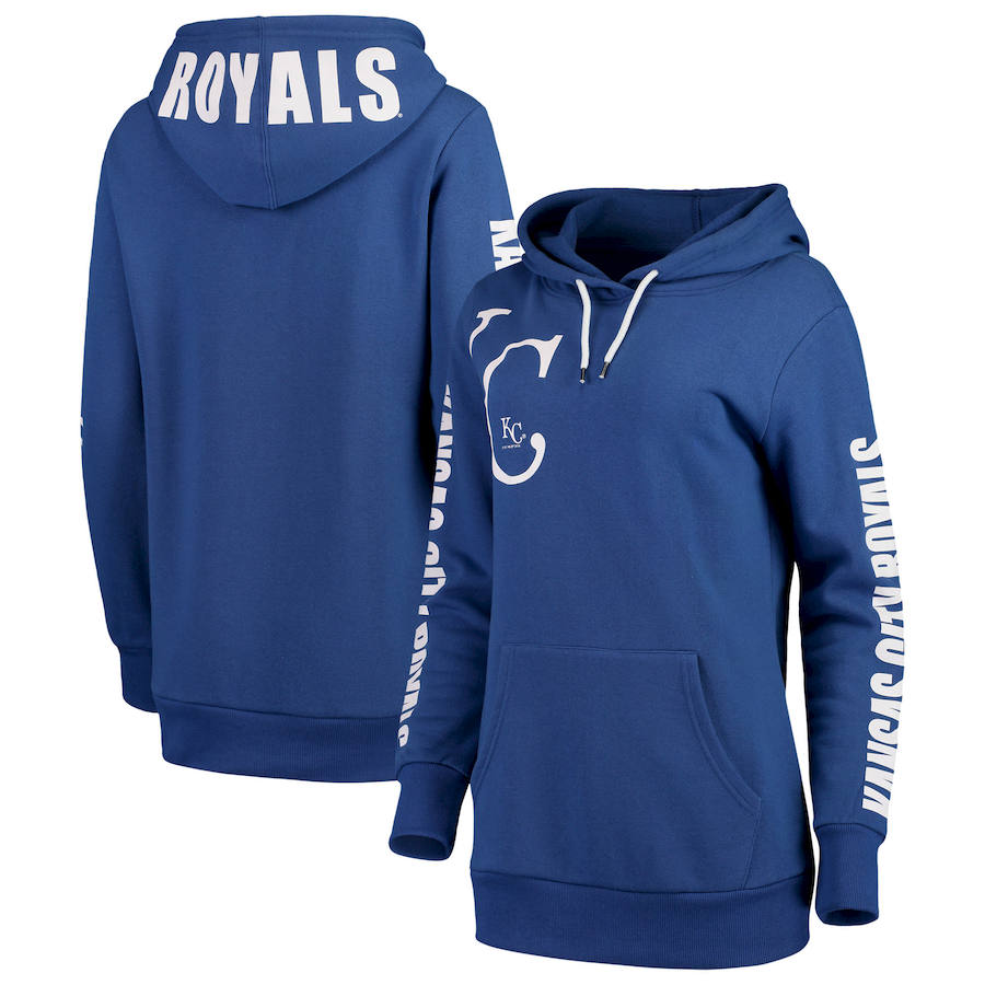 Kansas City Royals G III 4Her by Carl Banks Women's 12th Inning Pullover Hoodie Royal