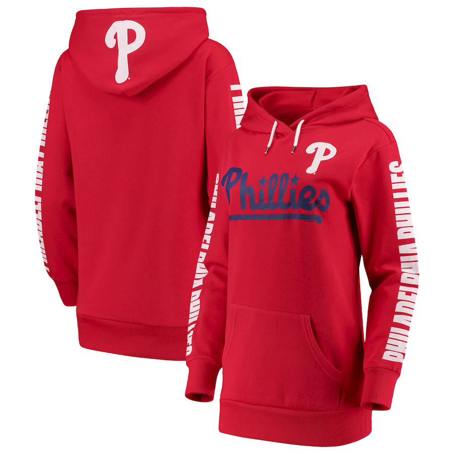 Philadelphia Phillies G III 4Her by Carl Banks Women's Extra Innings Pullover Hoodie Red