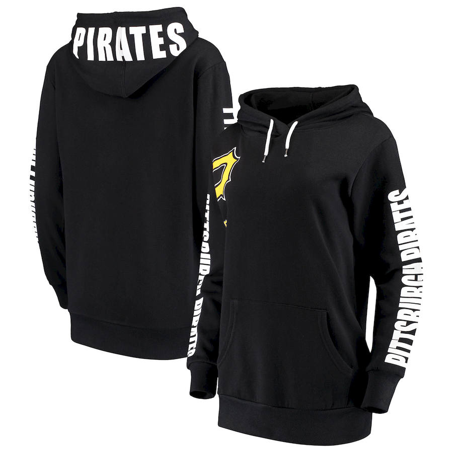 Pittsburgh Pirates G III 4Her by Carl Banks Women's 12th Inning Pullover Hoodie Black