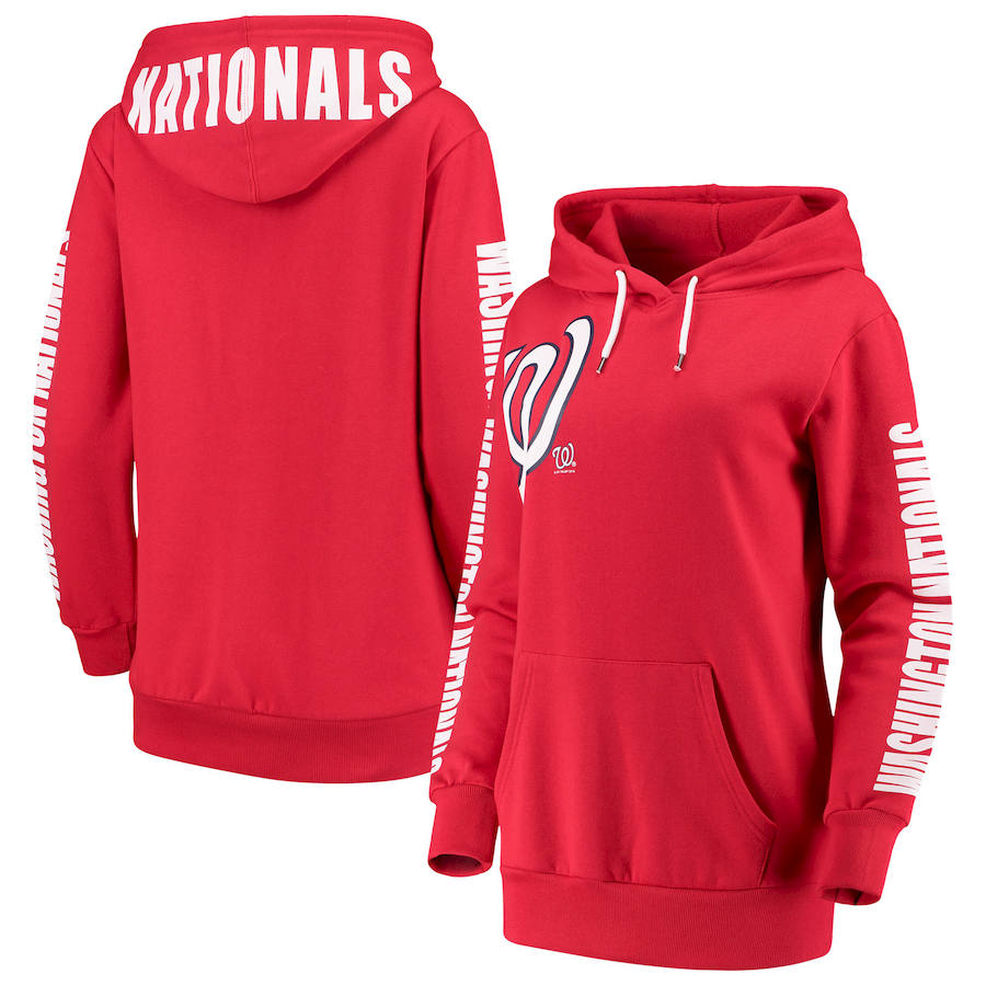 Washington Nationals G III 4Her by Carl Banks Women's 12th Inning Pullover Hoodie Red