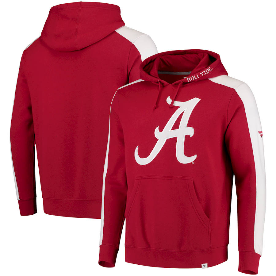 Alabama Crimson Tide Fanatics Branded Iconic Colorblocked Fleece Pullover Hoodie Crimson