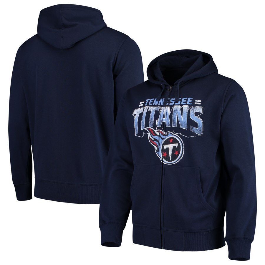Tennessee Titans G III Sports by Carl Banks Perfect Season Full Zip Hoodie Navy