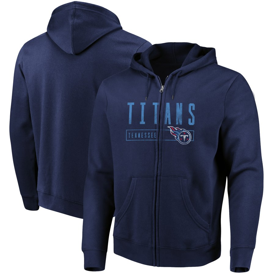 Tennessee Titans Majestic Hyper Stack Full Zip Hoodie Navy